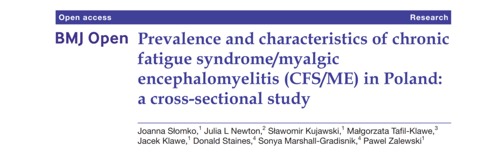 Prevalence and characteristics of chronic fatigue syndrome/myalgic encephalomyelitis (CFS/ME) in Poland: a cross-sectional study